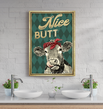 Nice Butt - Matte Canvas - Cow