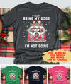 If I Can't Bring My Dog I'm Not Going - Personalized Custom Unisex T-shirt
