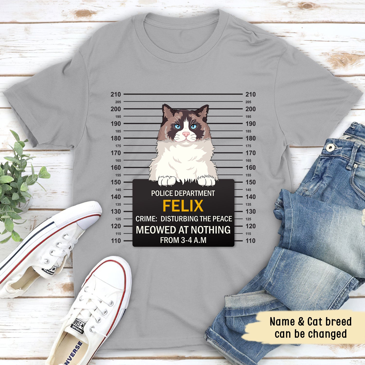 Meowed At Nothing - Personalized Custom Unisex T-shirt