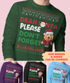 Santa Don't Forget The Dog - Personalized Custom Long Sleeve