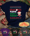 Santa Don't Forget The Dog - Personalized Custom Unisex T-shirt