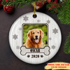 Lovely Pet Photo - Personalized Custom Photo Ceramic Circle Ornament - Pet Ornaments