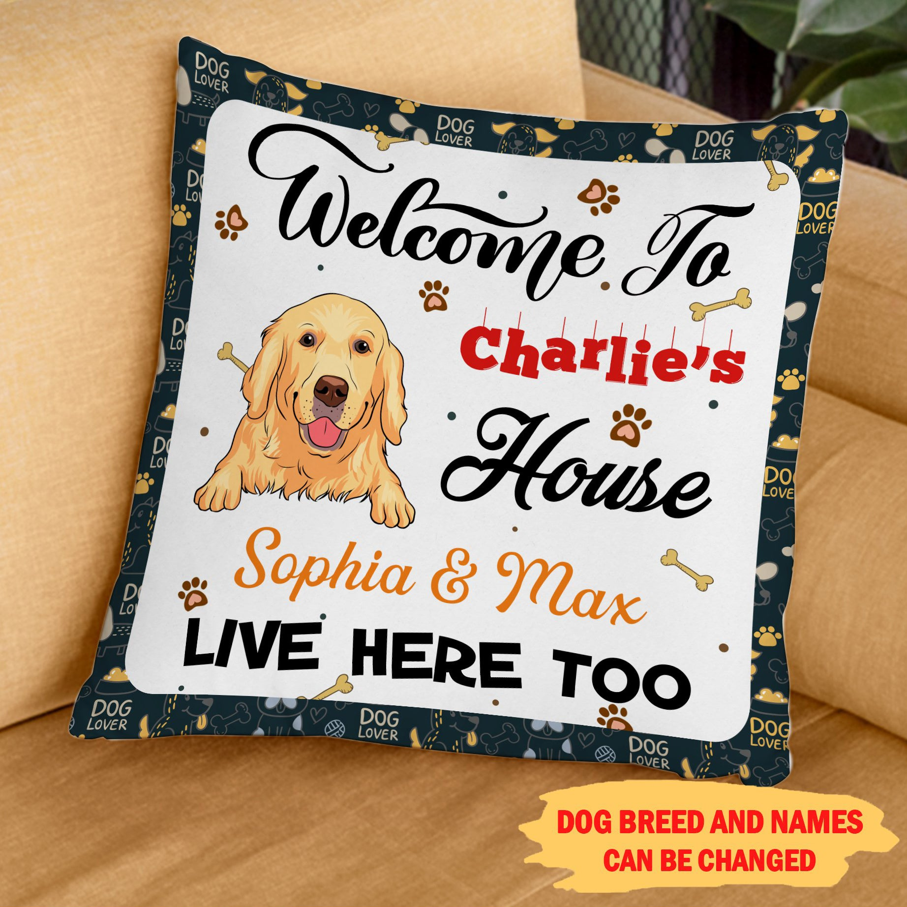 Welcome To My House 1 - Personalized Custom Linen Pillow