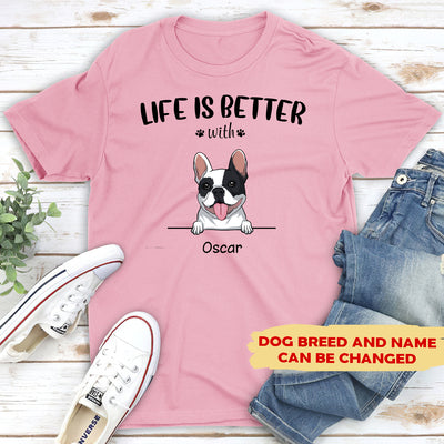 Life is better - Personalized custom unisex classic T-shirt