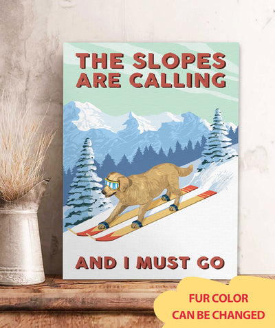 Slopes Calling - Personalized Custom Canvas
