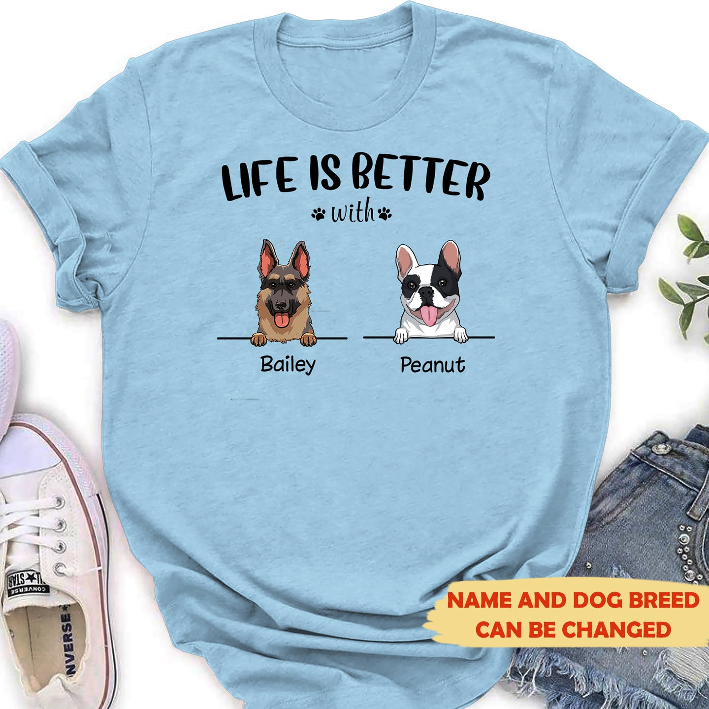 Life is better - Personalized Classic Women's T-shirt