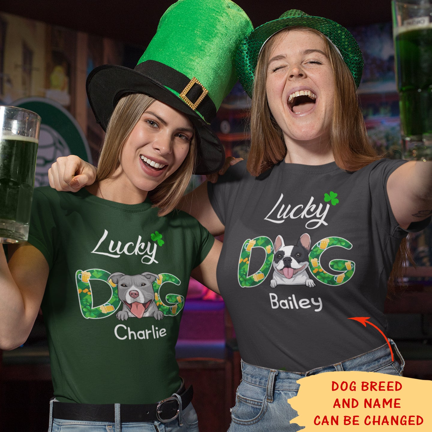 Lucky Dog - Personalized Custom Women's T-shirt