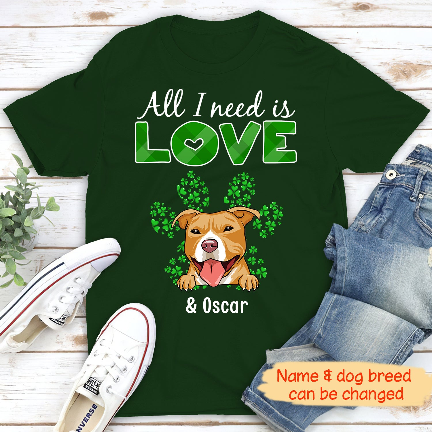 All I need (Saint Patrick) - Personalized Custom Unisex T-shirt