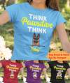 Think Pawsitive - Personalized Custom Women T-shirt