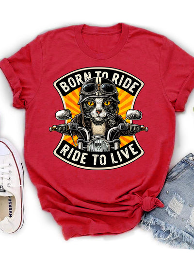 Born To Ride, Ride To Live - Classic Unisex T-shirt