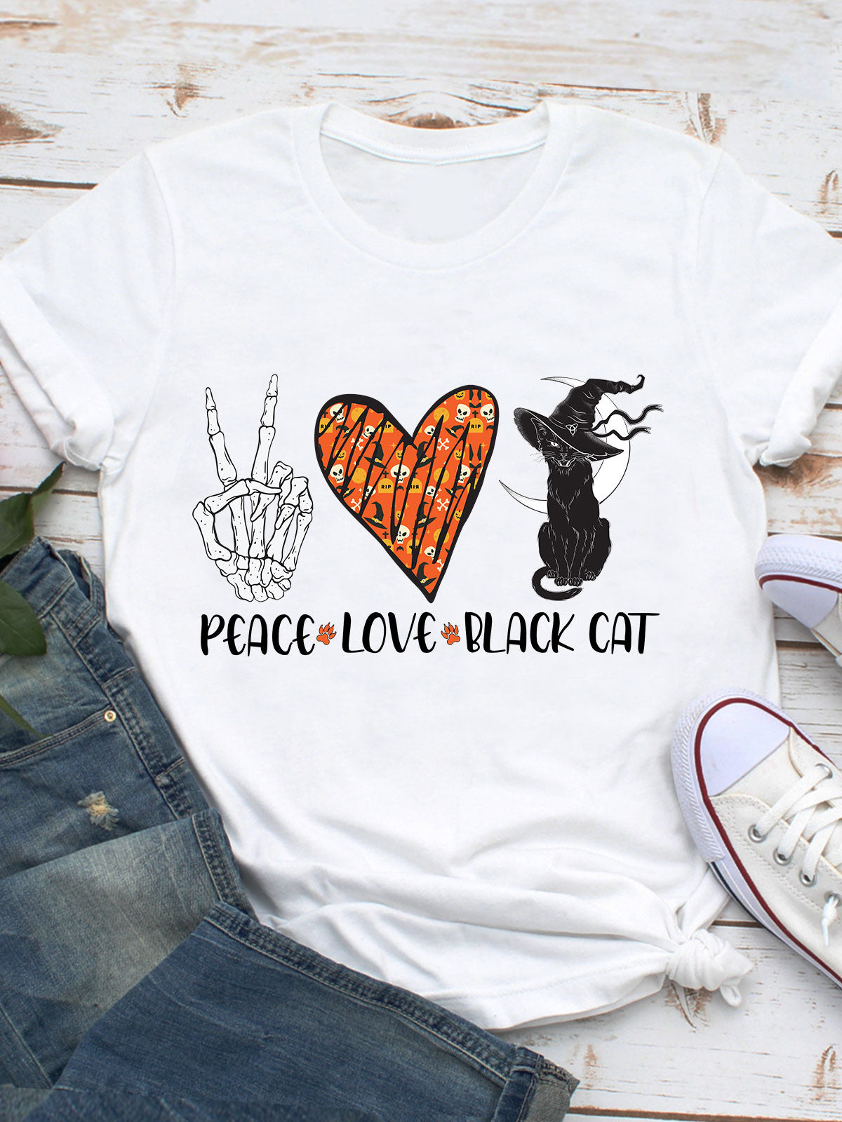 Peace Love Blackcat - Standard Unisex T-shirt
