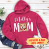 Dog Mom/Dad - Personalized Custom Unisex Hoodie (white text)