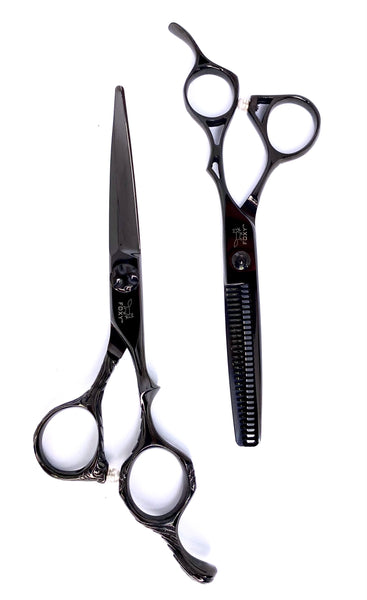 Foxy Premium SB Series Scissor Set Black