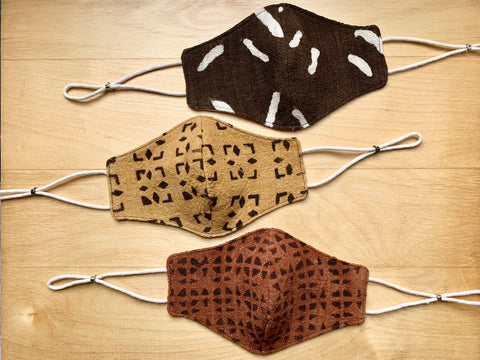 African Mudcloth Linen Face Mask