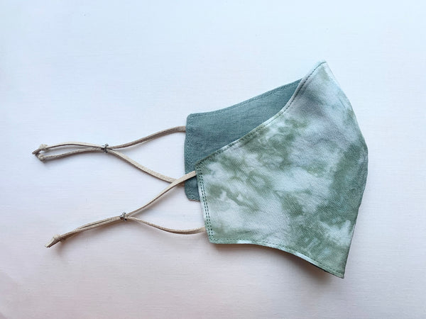 Hand Dyed Silk and Linen Mask