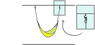 Drill Hooks Into A Ceiling Beam And Attach Them With Rope To The Eyes Of  Your Hanging Chair Hammock (using A Knot Or Carabiner).
