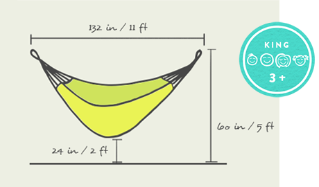 part iii  optimal dimensions for your king size hammock how to hang a hammock   hanging indoors  u0026 outside with yellow leaf      rh   yellowleafhammocks