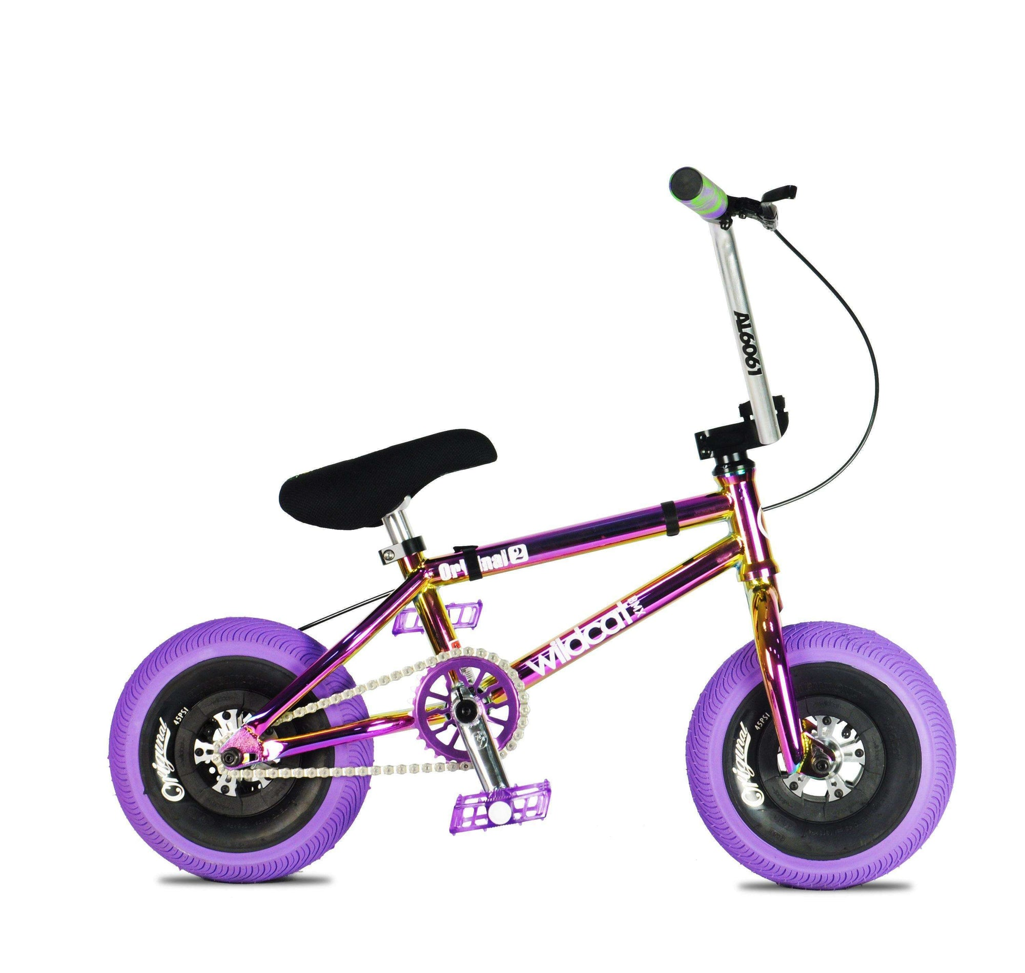 Pro Series Joker Purple - FREE Disc Brake & Pro Turbo Wheel Mini BMX Wildcat Mini BMX Disc Brakes