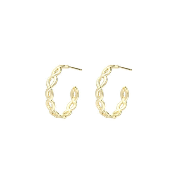 Bloom Mini Hoop Earrings, Gold