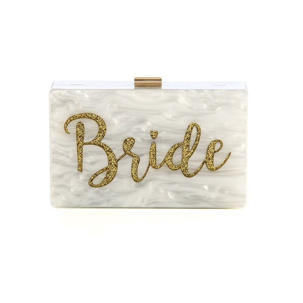 Bride Minaudière Clutch in Ivory