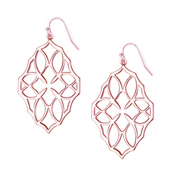 Believer Large Drop Earrings in Rose Gold