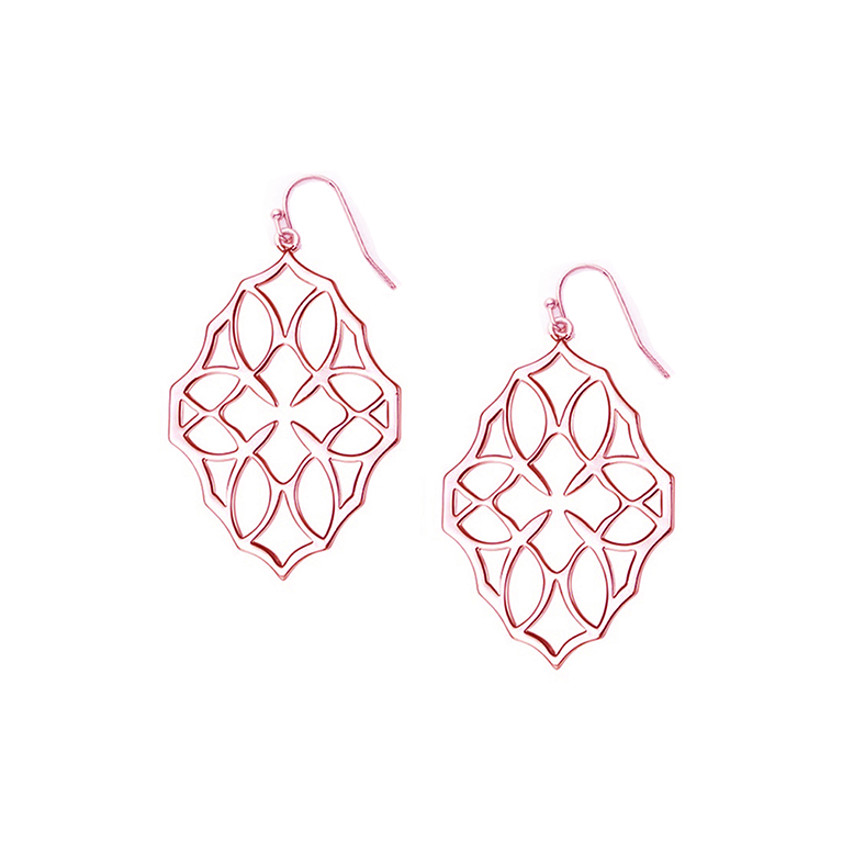 Believer Small Drop Earrings in Rose Gold