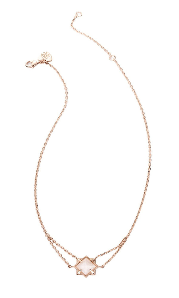 Runaway Romantic Rose Gold Necklace in Rainbow Stone