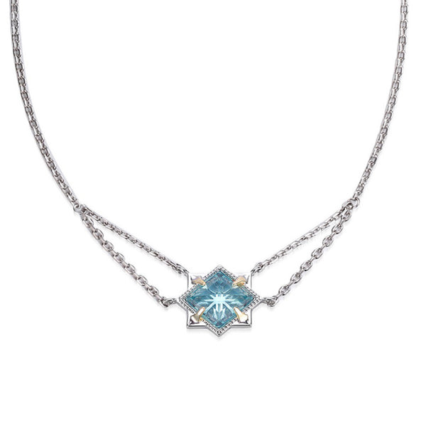 Runaway Romantic Necklace, Blue Topaz