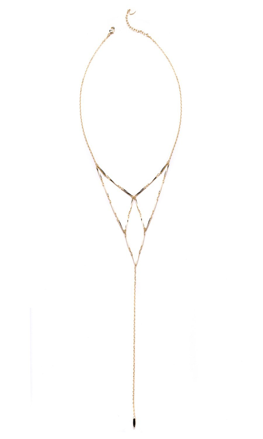 NATALIE WOOD  DESIGNS Free Spirit Lariat Necklace- Gold