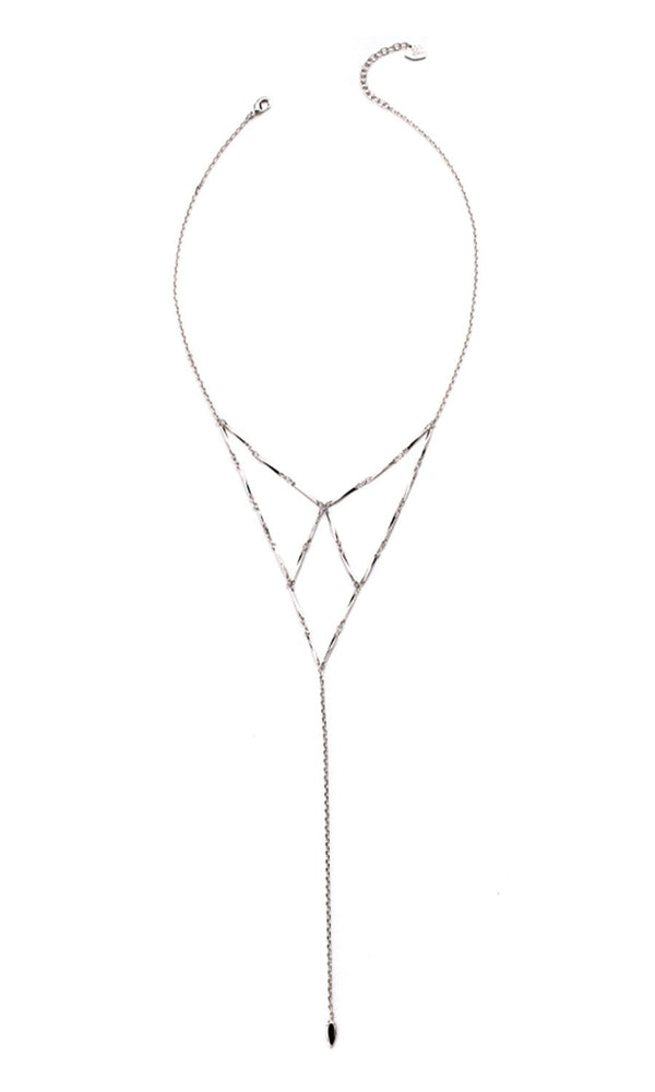 NATALIE WOOD  DESIGNS Free Spirit Lariat Necklace- Silver