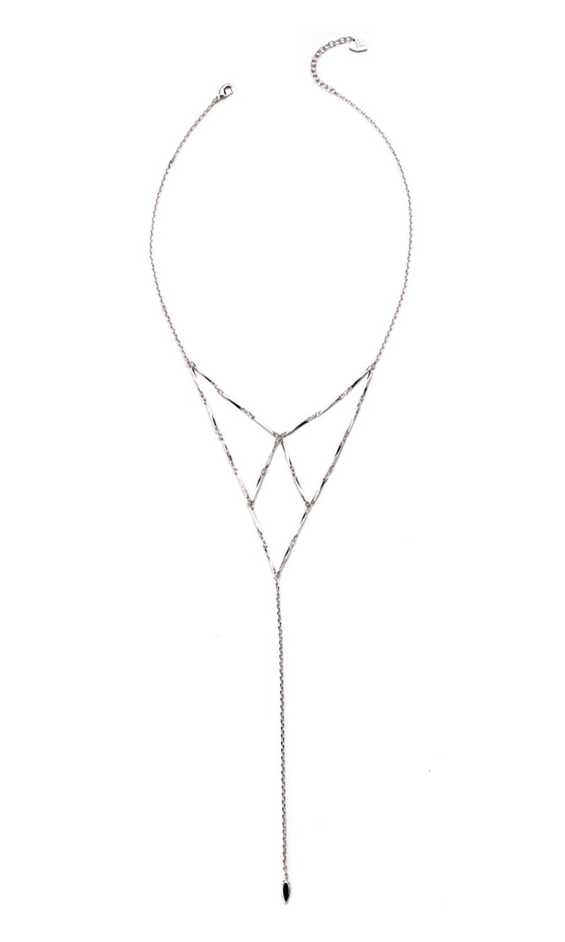 Free Spirit Lariat Necklace in Silver