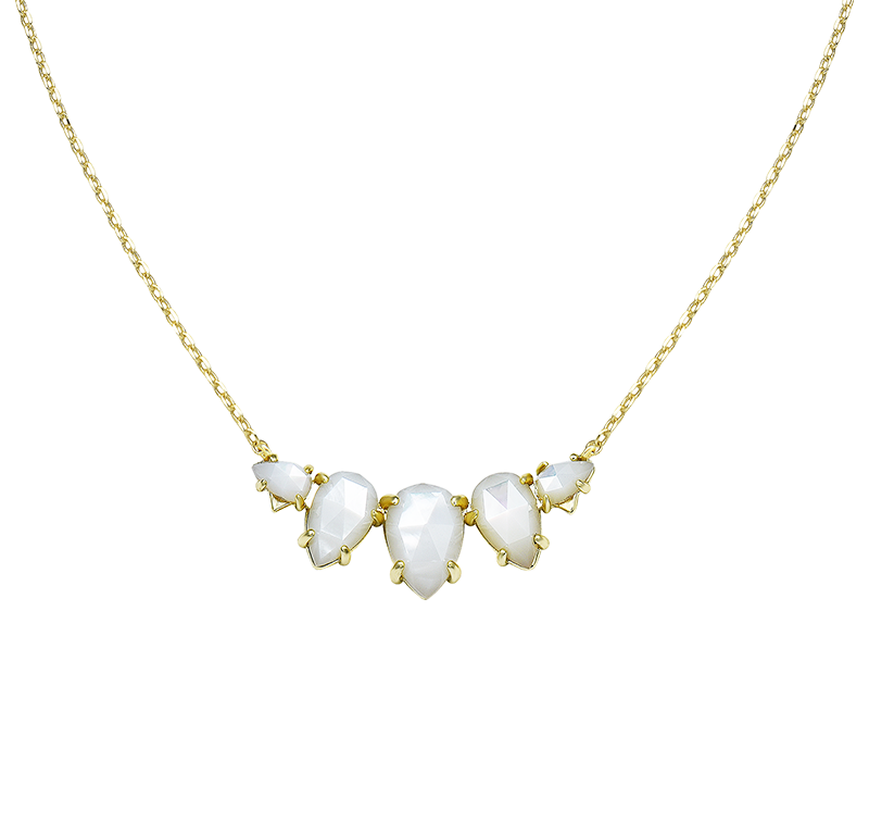 Daydreamer Necklace in White Pearl in Gold