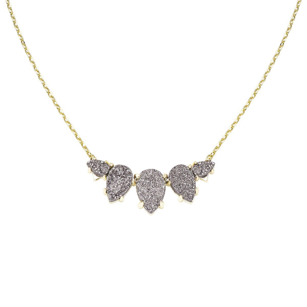 Daydreamer Necklace in Grey Drusy