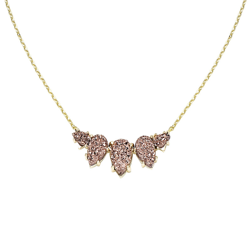 Daydreamer Necklace in Rose Drusy