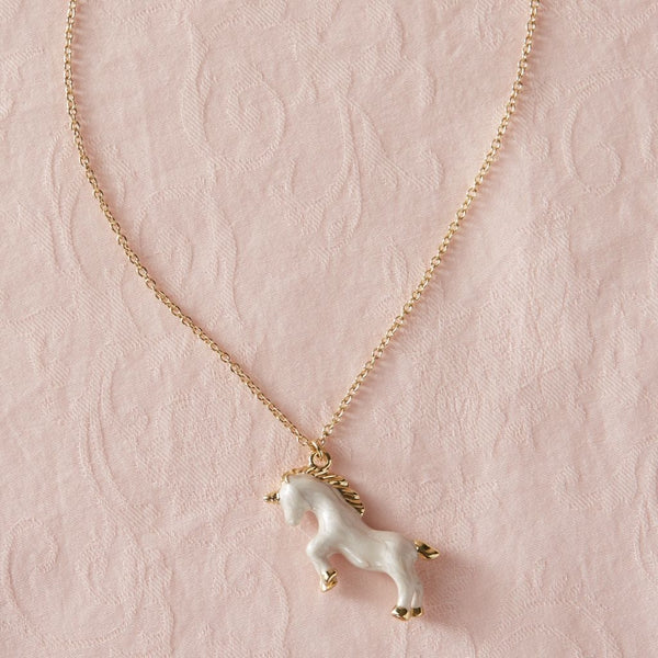 Unicorn Necklace - White