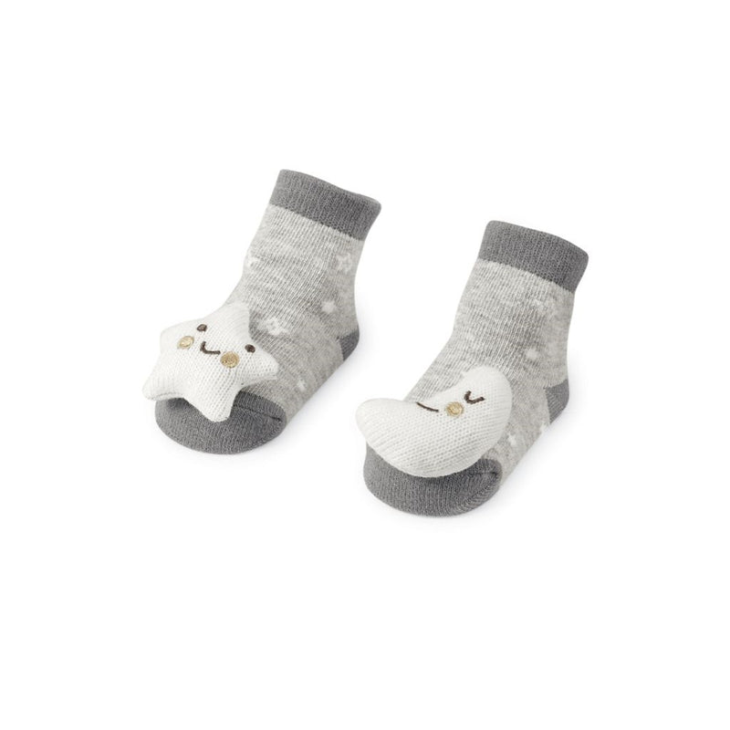Moon & Stars Rattle Toe Socks
