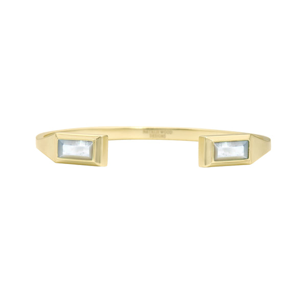 Miss CEO Gold Cuff in Ivory Pearl