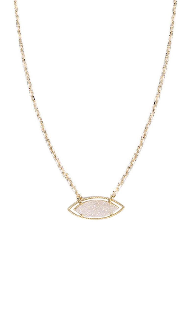 NATALIE WOOD DESIGNS She's A Gem Necklace- White Drusy