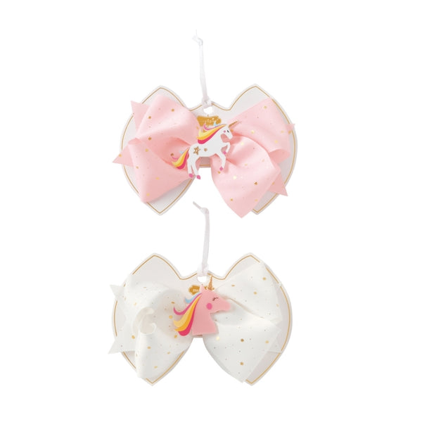 Unicorn Acrylic Bow, White