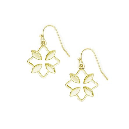 Grace Mini Drop Earrings, Gold