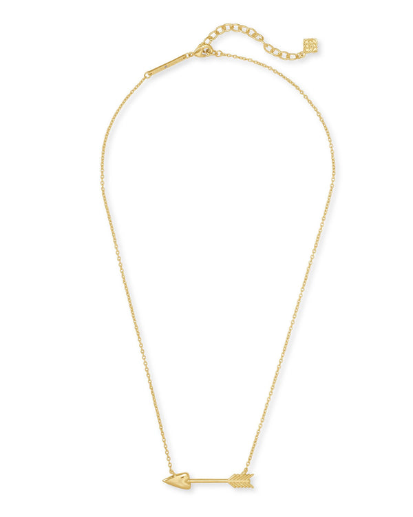 Zoey Short Pendant Necklace, Gold