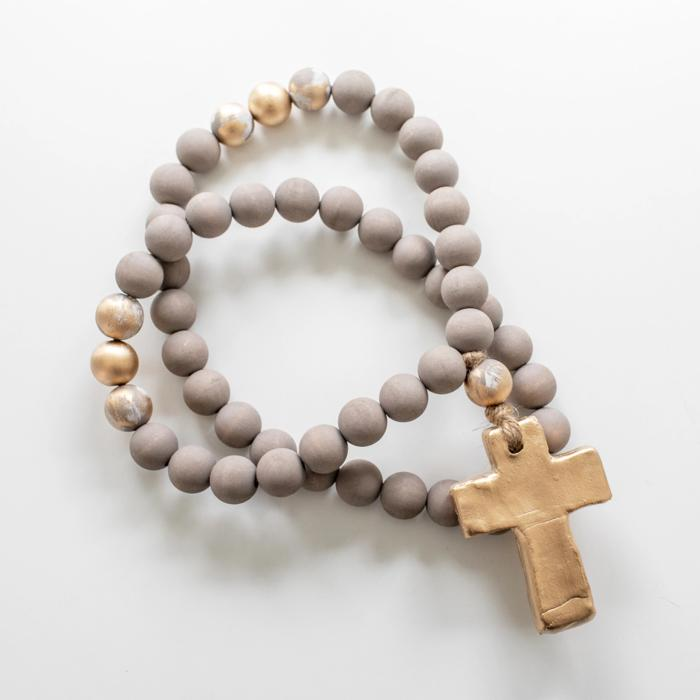 "30"" Elle Beads, Cross"