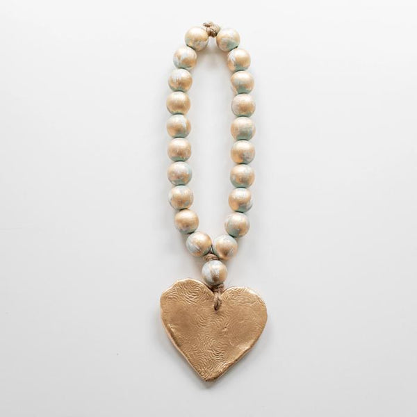"16"" Nancy Heart Beads, Turquoise"