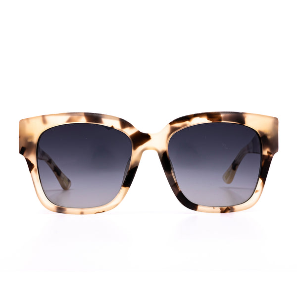 Bella II Sunglasses - Cream Tortoise + Grey