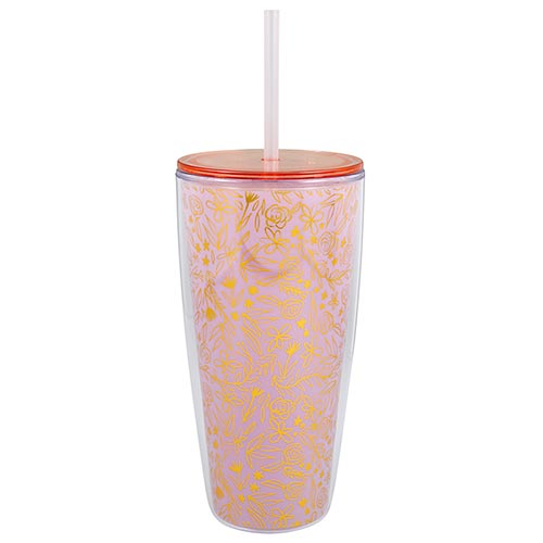 22 oz Gold Flower Tumbler