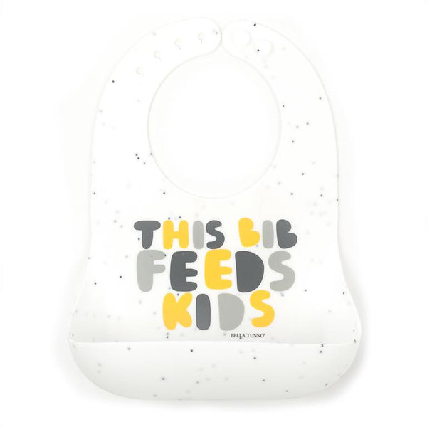 This Bib Feeds Kids Wonder Bib, Yellow
