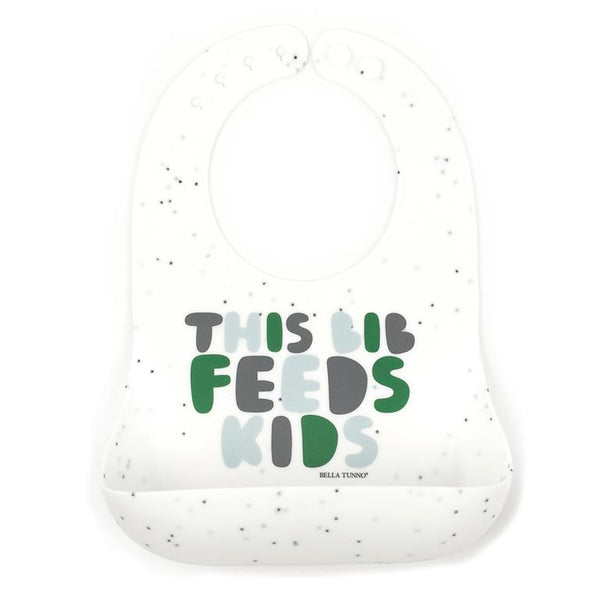This Bib Feeds Kids Wonder Bib, Green