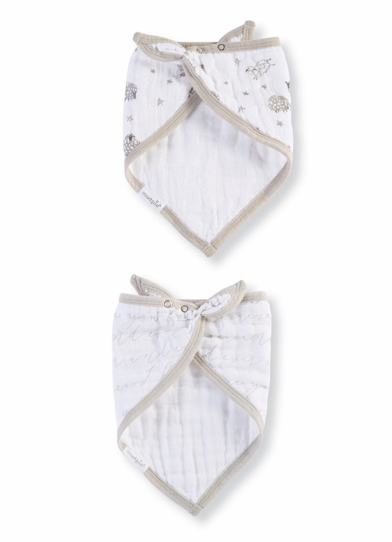 Counting Sheep Bandana Bibs Set