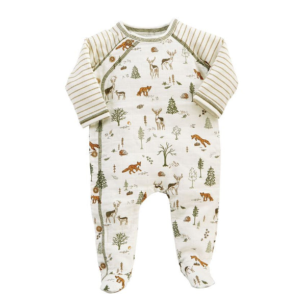 Forest Friends Muslin Footed Sleeper