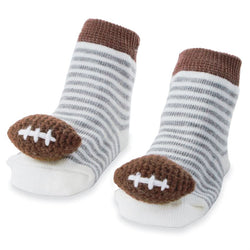 Football Rattle Toes Socks
